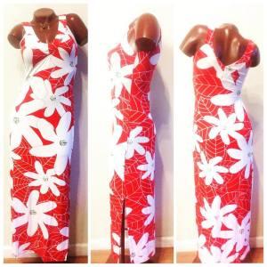 Tiare Teiti red dress
